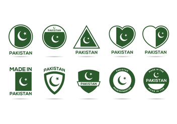 Free Pakistan Label Vector - Free vector #369705