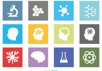 Neuroscience Icon Set - vector gratuit #369715