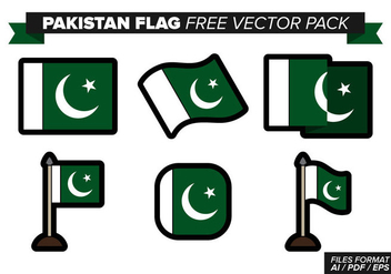 Pakistan Flag Free Vector Pack - Kostenloses vector #369725