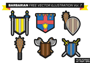 Barbarian Free Vector Pack Vol. 7 - vector gratuit #369735