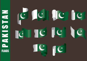 Pakistan Flag Vectors - бесплатный vector #369765