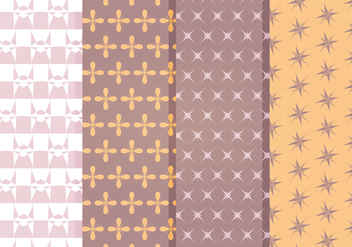 Vector Decorative Star Pattern Set - vector gratuit #369815
