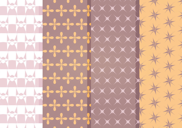 Vector Decorative Star Pattern Set - Free vector #369815
