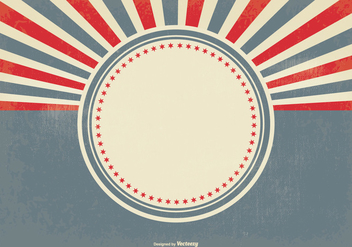 Blank Retro Sunburst Background - Kostenloses vector #369845
