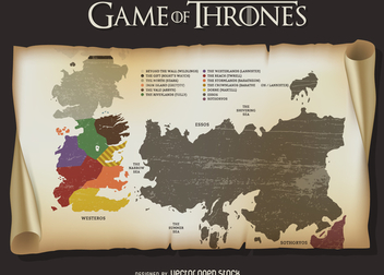 Game of Thrones map - vector gratuit #369865