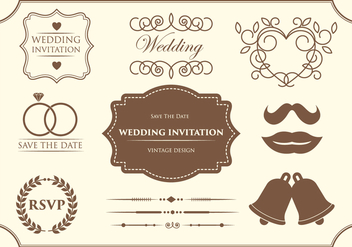 Free Wedding Ornament Vectors - vector gratuit #370015