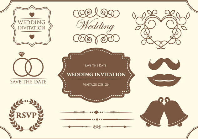 Free Wedding Ornament Vectors - vector #370015 gratis
