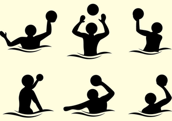 Water Polo Silhouette Vector - Free vector #370035