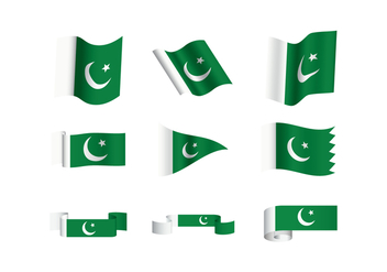 Free Pakistan Flag Vectors - бесплатный vector #370065