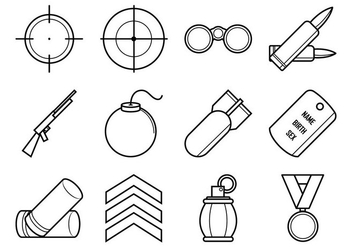 Free World War Icon Vector Pack - Free vector #370075