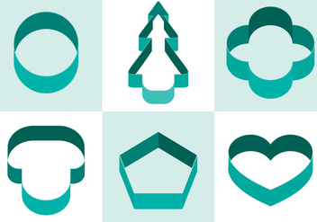 Cookie Cutter Vector - vector gratuit #370085