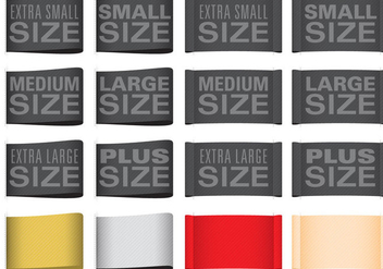 Clothes Size Labels - Free vector #370125