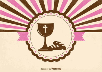 Retro Style Eucharist Illustration - Free vector #370155