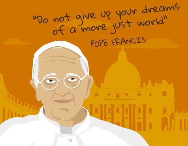 Pope francis dreams quote - vector gratuit #370225
