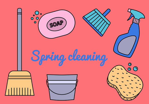 Spring Cleaning Vectors - Free vector #370505
