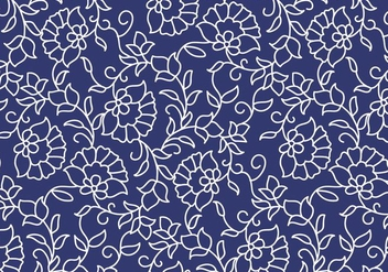 Outline Floral Pattern - Free vector #370625