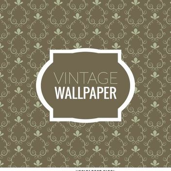 Vintage swirls wallpaper - vector gratuit #370715