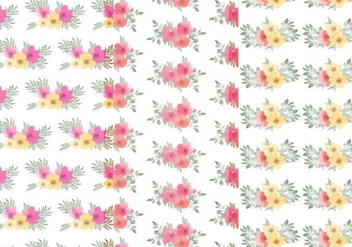 Vector Floral Leaf Pattern Set - Kostenloses vector #370755
