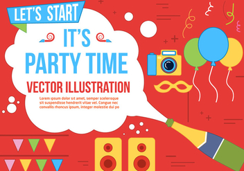 Free Party Time Vector - Kostenloses vector #370815