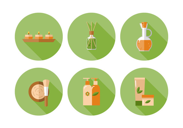 Vektor-Spa-Icon-set - Kostenloses vector #370885