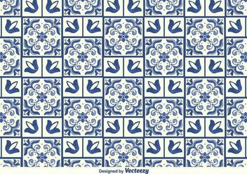Vector Traditional Azulejos Pattern - Free vector #370975
