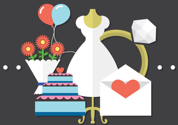Free Wedding Vectors - бесплатный vector #371025