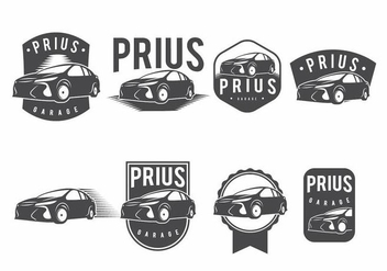 Prius Badge Set - бесплатный vector #371165
