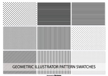 Geometric Vector Pattern Swatches - Free vector #371335