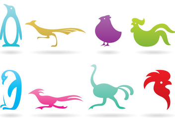 Flightless Bird Logos - бесплатный vector #371365