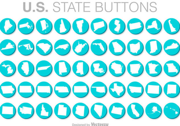 United States Vector Buttons - Kostenloses vector #371395