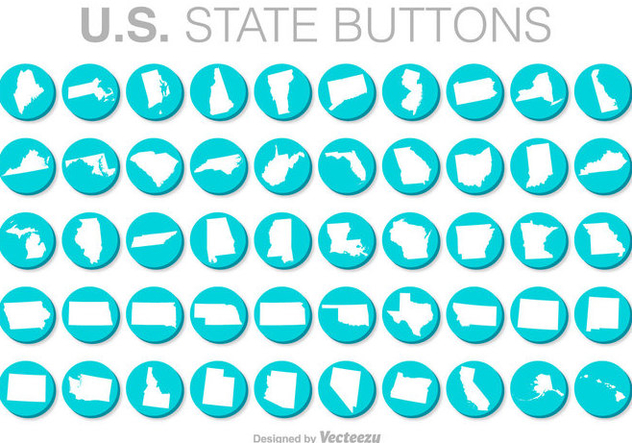 United States Vector Buttons - бесплатный vector #371395