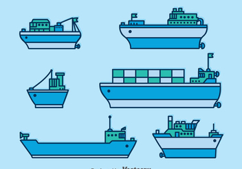 Ships And Boats Vector Set - Free vector #371405