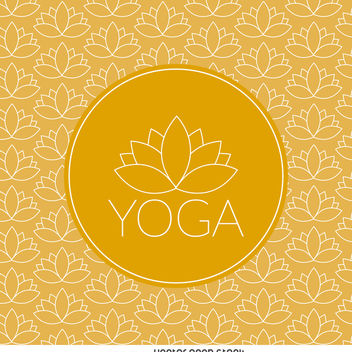 Yoga lotus pattern with label - vector gratuit #371455