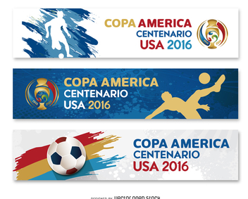 3 banners Copa America USA 2016 - Free vector #371465