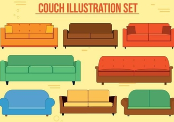 Free Couch Vector Set - Free vector #371585