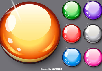 Vector Glossy Spheres Set - vector gratuit #371615