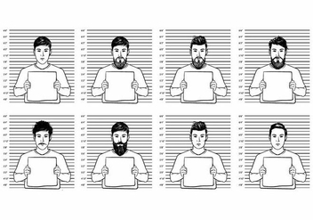 Mugshot Vector People - vector gratuit #371655