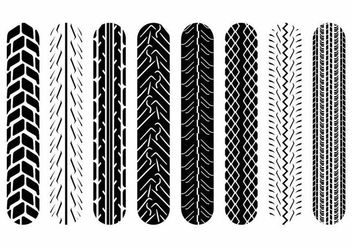 Motorcycle Tire Marks - vector gratuit #371695