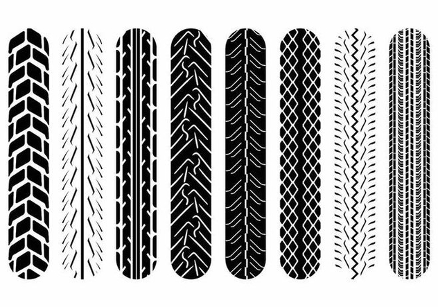 Motorcycle Tire Marks - Kostenloses vector #371695