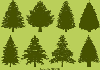 Vector Pine Silhouettes Set - Kostenloses vector #371715