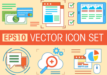 Free Vector Icons Set - бесплатный vector #371765