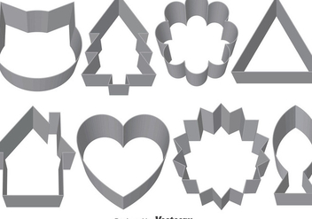 Set Of Vector Cookie Cutters - vector gratuit #371825