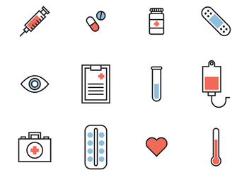 Medical colorful icons - Free vector #371835