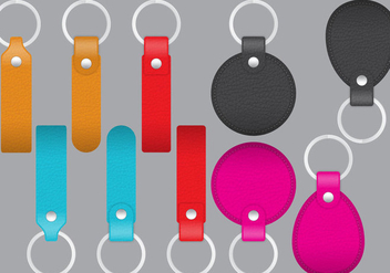 Leather Key Holders - vector gratuit #371865