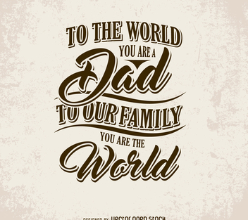 Father's Day card with phrase - vector #371955 gratis