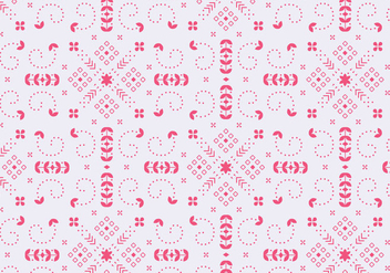 Decorative Floral Red Pattern - vector gratuit #372045