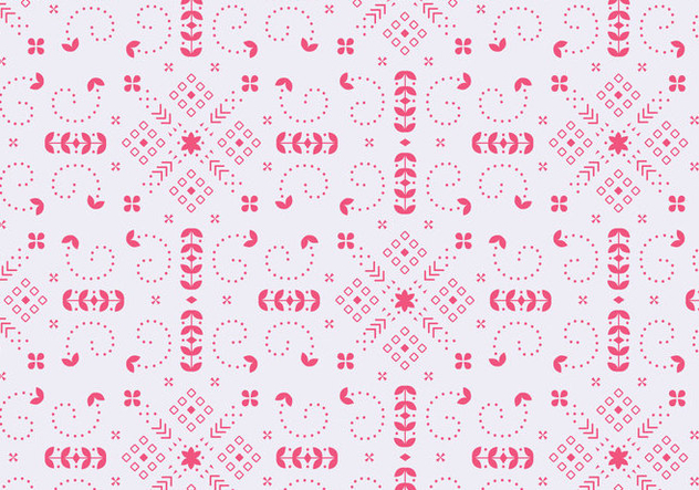 Decorative Floral Red Pattern - Kostenloses vector #372045