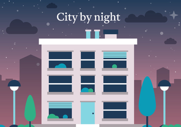 Free Vector City by Night - бесплатный vector #372075