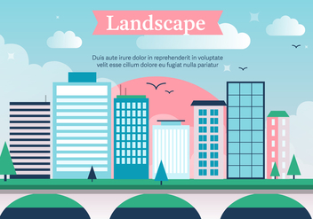 Free City Vector Landscape - бесплатный vector #372085