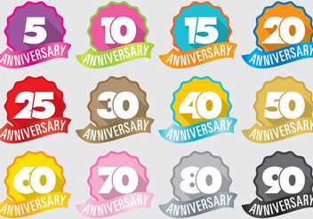 Anniversary Badges - Free vector #372115
